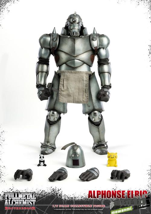 THREEZERO发布《钢之炼金术师》爱德华·艾尔利克与阿尔冯斯·艾尔利克可动人偶