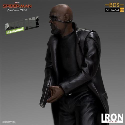 Iron Studios 公布《蜘蛛侠:英雄远征》尼克弗瑞雕像