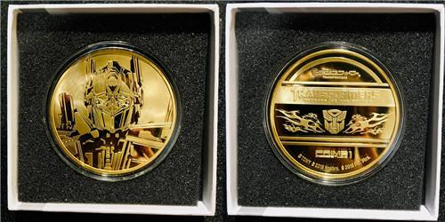 P1S推出《变形金刚》电影版擎天柱与威震天纪念金币等大量周边